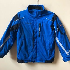 Columbia blue insulated coat size 10/12